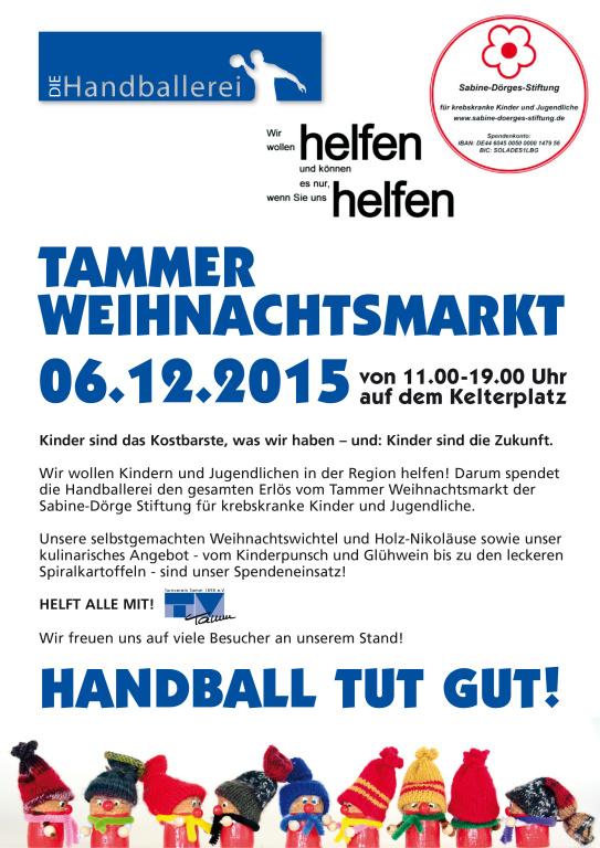 tammer weihnachtsmarkt - tv tamm handball, Einladungen