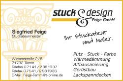 Stuck & Design Feige GmbH